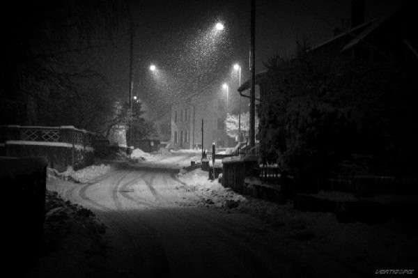 Neige matinale à Chamblon, hiver 2013